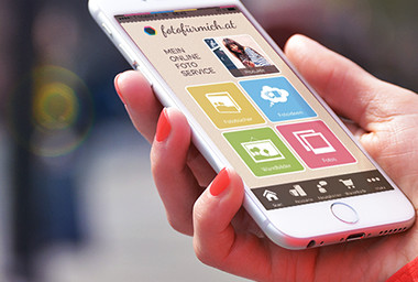 Kostenlose Foto für mich App - Fotoartikel bequem übers Smartphone gestalten