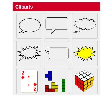 Online-Editor - Cliparts einfügen