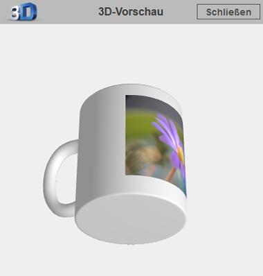 Online-Editor - 3D-Vorschau