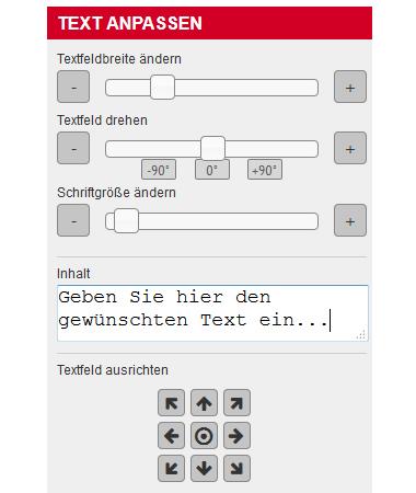 Online-Editor - Text anpassen